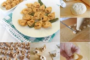 Cappelletti di pasta fresca integrale ricetta base