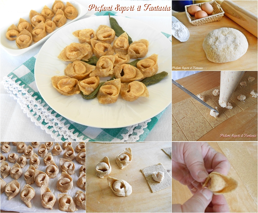 Cappelletti di pasta fresca integrale