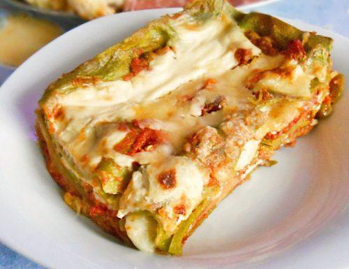 Lasagne ai due colori gratinate