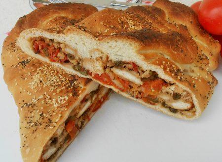 Pane ripieno con verdure formaggi