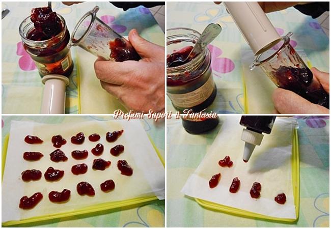 Gocce di marmellata che non affondano nei dolci