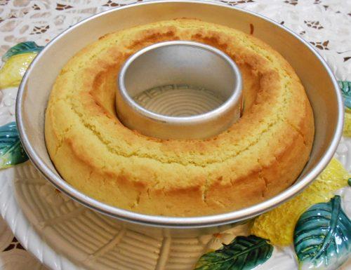 Ciambella senza burro con olio di riso