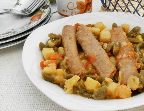 Salsicce di pollo e tacchino con verdure