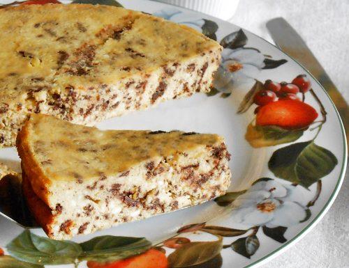 Torta di ricotta al forno senza farina e lievito