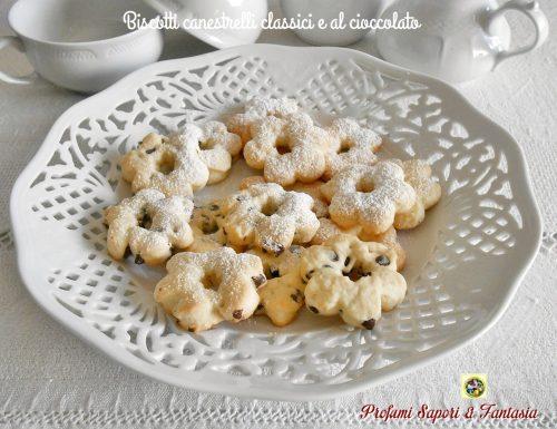Biscotti canestrelli classici e con cioccolato