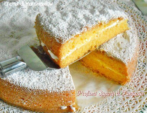 Torta paradiso con crema di marshmallow