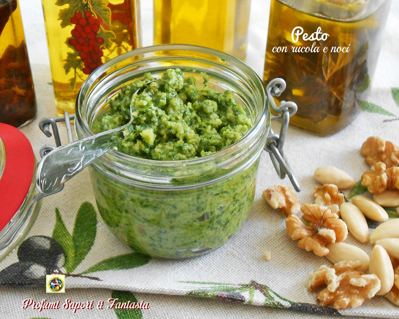 Pesto con rucola e noci