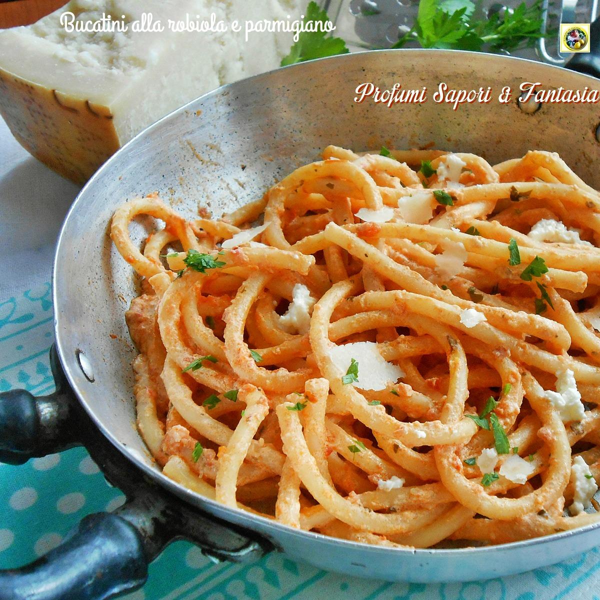 Bucatini alla robiola e parmigiano