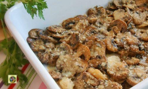 Funghi gratinati al pecorino