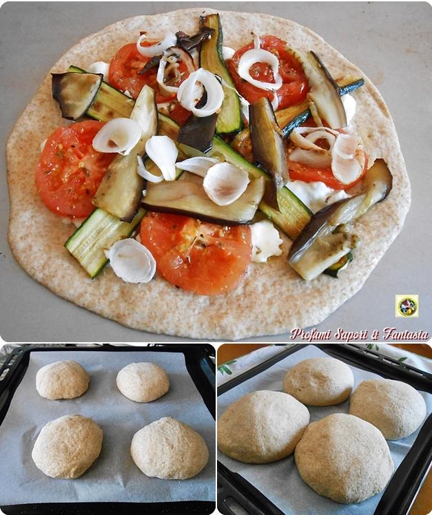 Pizza integrale light collage