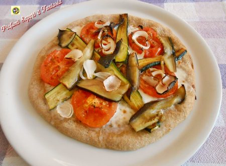 Pizza integrale light con verdure