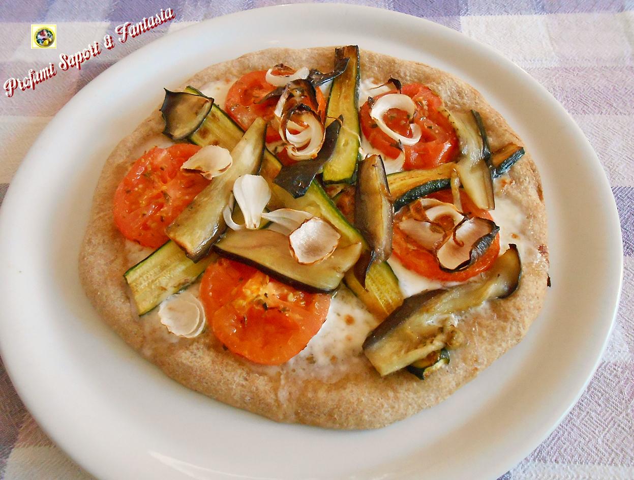 Pizza integrale light con verdure