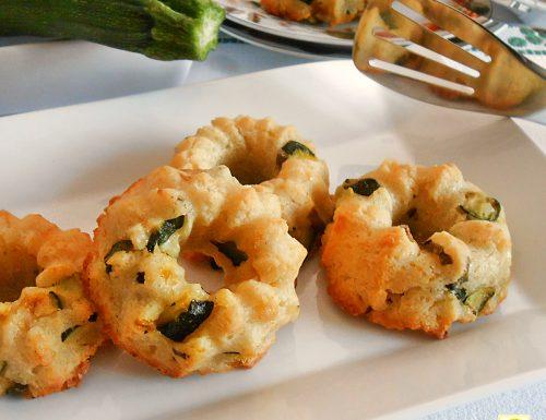 Ciambelline salate con ricotta e zucchine
