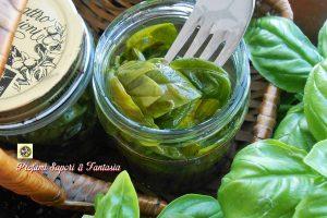Conservare il basilico in olio di oliva