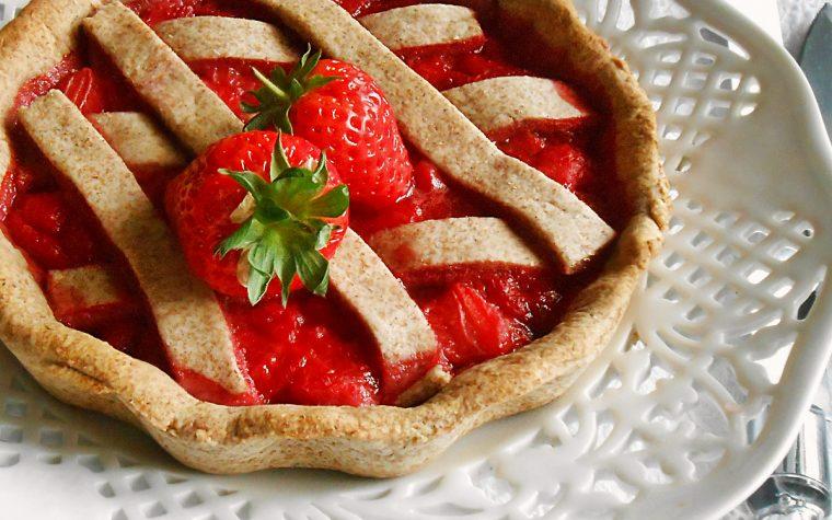 Crostata integrale con fragole