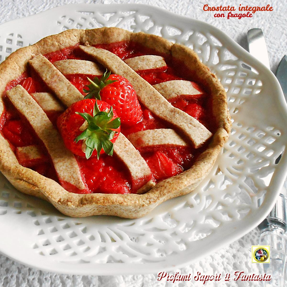 Crostata integrale alle fragole