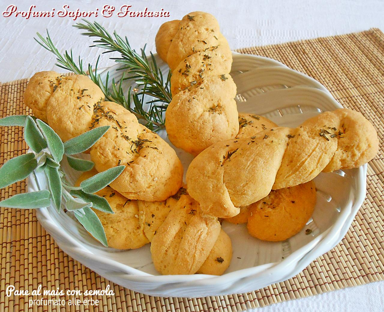 Pane al mais con semola