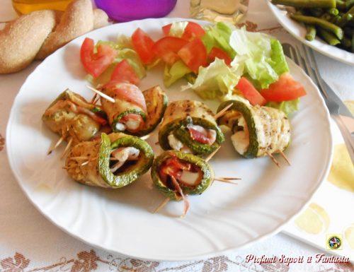 Rotolini di zucchine con crudo e feta
