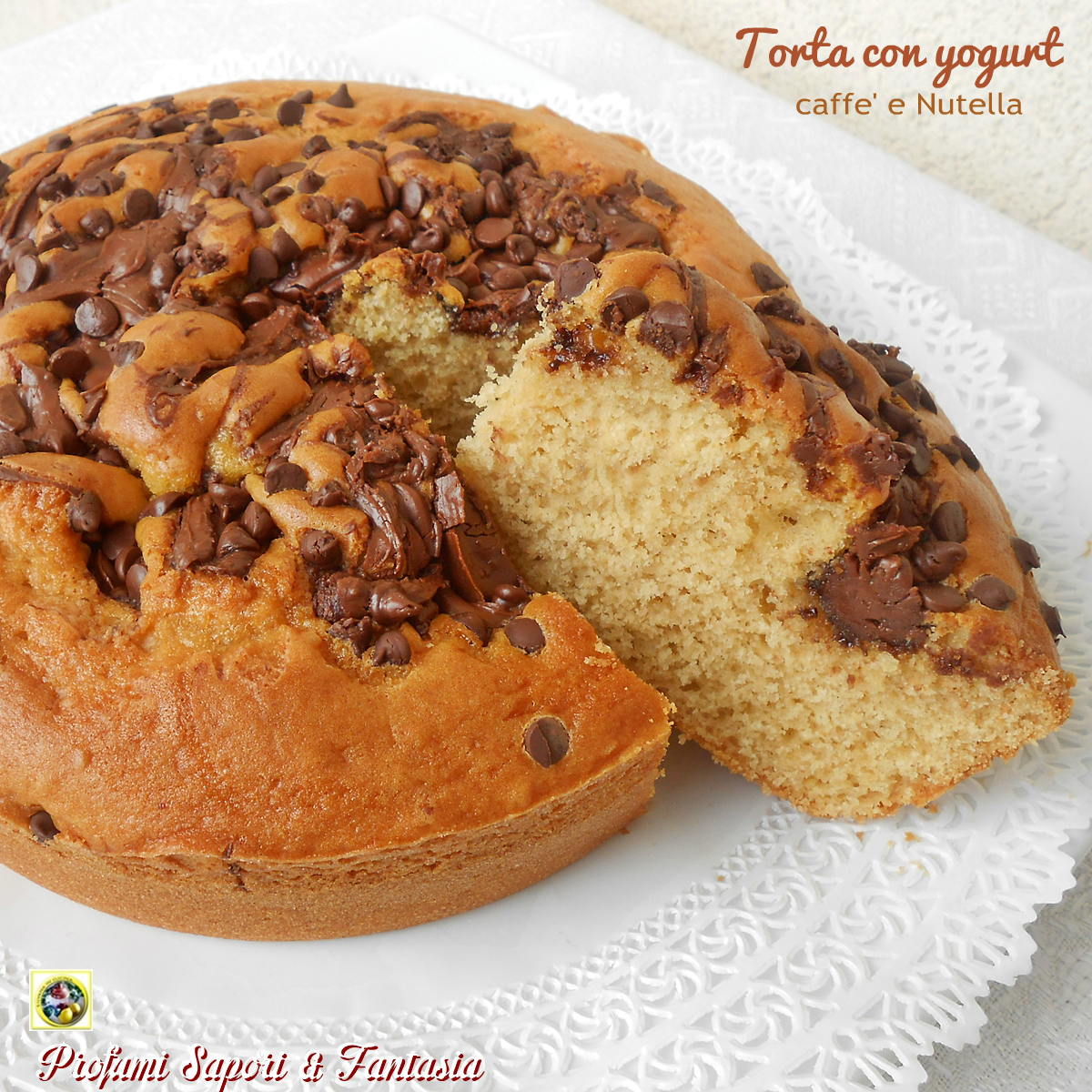 Torta con yogurt caffè e Nutella