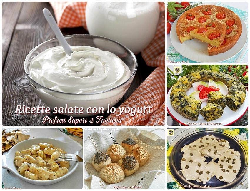 Ricette salate con lo yogurt