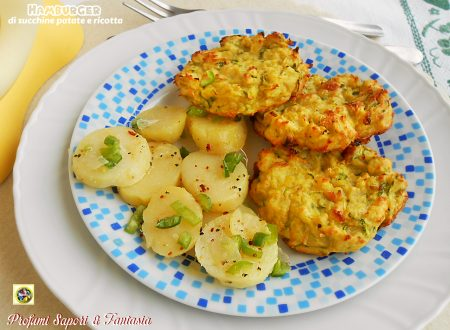 Hamburger di zucchine patate e ricotta