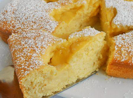 Torta con ricotta panna e crema