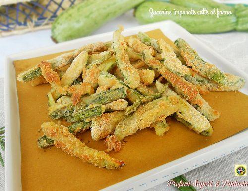 Zucchine croccanti cotte al forno