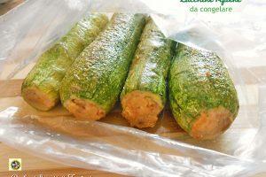 Zucchine ripiene da congelare
