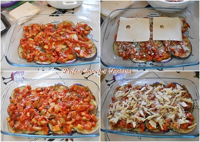 Melanzane al forno con verdure