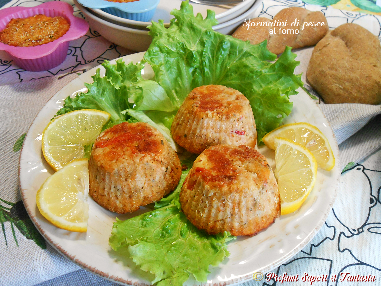 Estremamente Sformatini di pesce al forno ricetta facile leggera e gustosa OF14