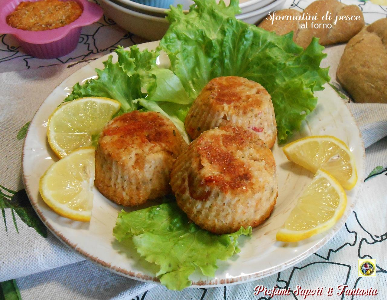 Sformatini di pesce al forno