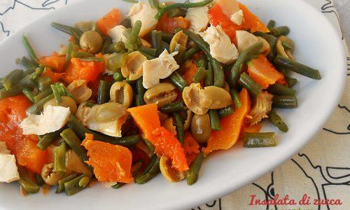 Insalata di zucca con verdure
