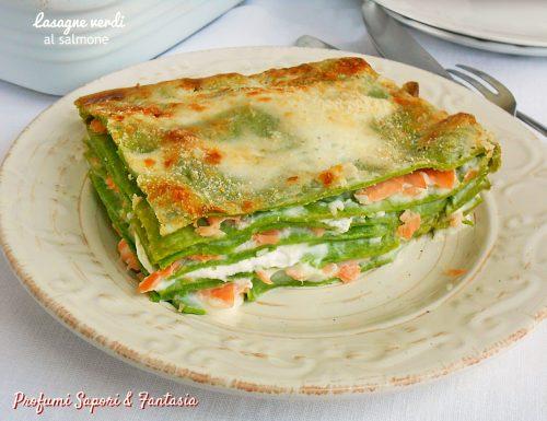 Lasagne verdi al salmone doppia ricetta anche light