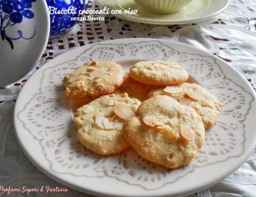 Biscotti croccanti con riso senza lievito