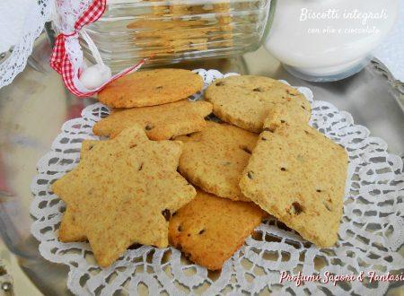 Biscotti integrali con olio e cioccolato