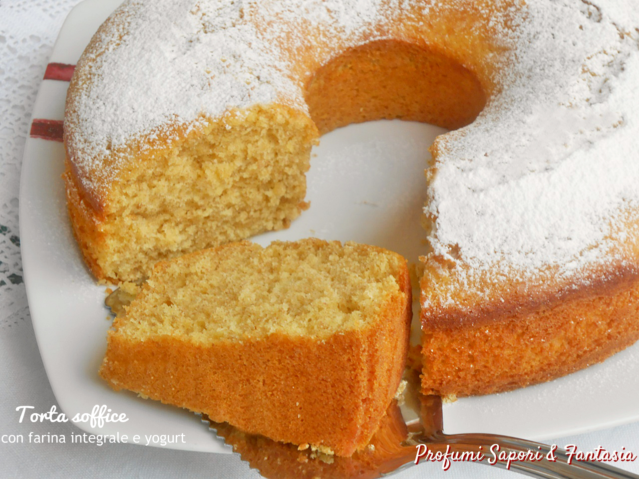 Torta soffice con farina integrale e yogurt