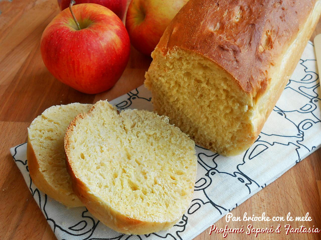 Pane dolce con mele e cannella