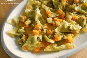 Ravioli con zucca zucchine e taleggio
