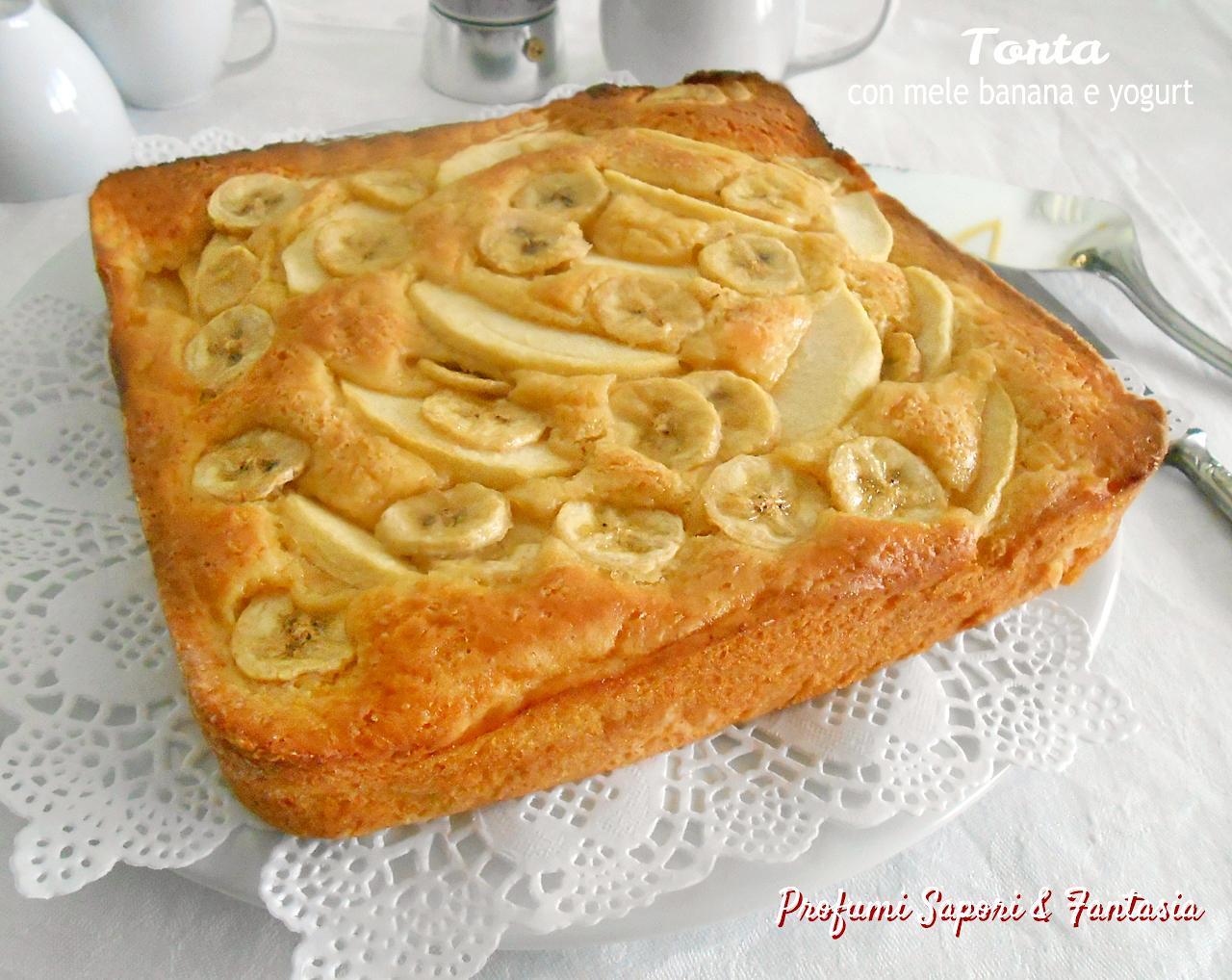 Torta con mele banana e yogurt greco soffice e golosa for Torta di mele e yogurt fatto in casa da benedetta