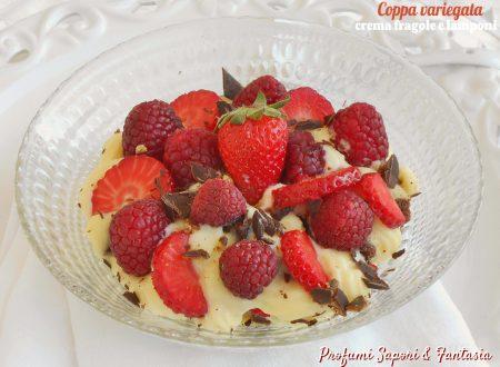 Coppa variegata crema fragole e lamponi