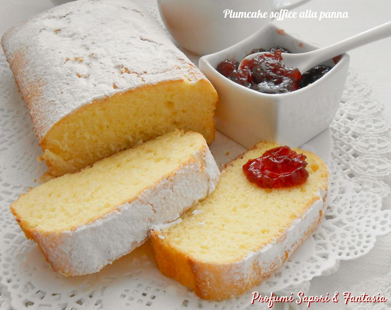 Plumcake soffice alla panna