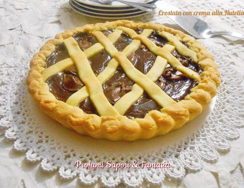 Crostata con crema alla Nutella
