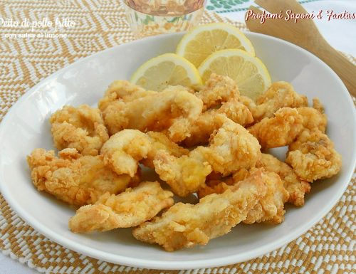 Petto di pollo fritto con salsa al limone
