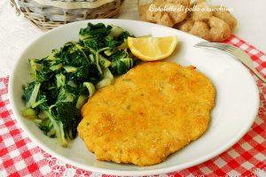 Cotolette di pollo e zucchine
