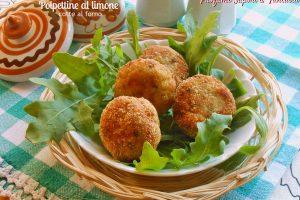 Polpettine al limone cotte al forno ricetta