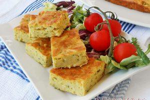 Sformato di zucchine al forno con cipolla e parmigiano