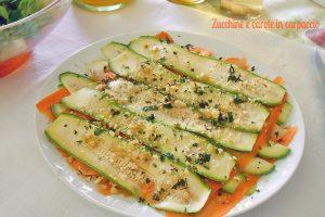 Zucchine e carote in carpaccio