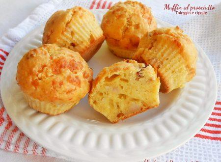 Muffin al prosciutto taleggio e cipolle