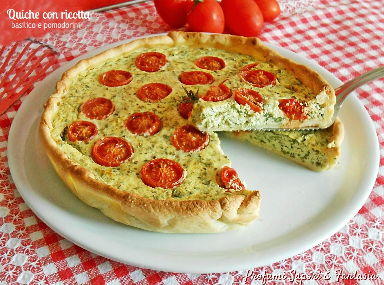 Quiche con ricotta basilico e pomodorini 2