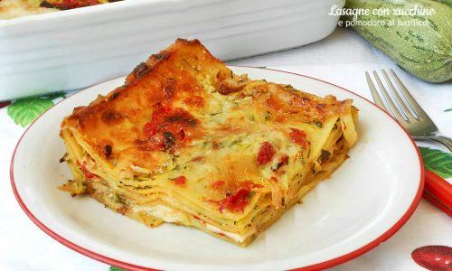 Lasagne con zucchine scamorza e pomodoro